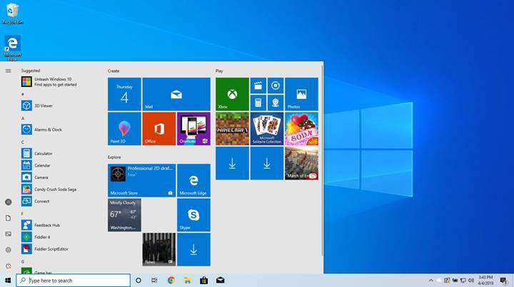 Microsoft, Windows 10 Mayıs 2019 Güncellemesi'ni resmen duyurdu