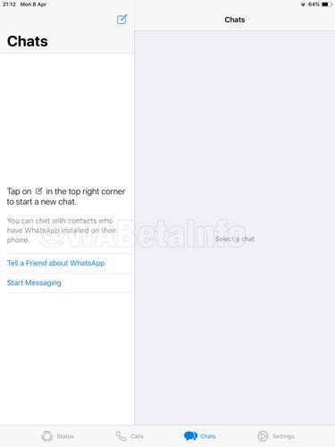 WhatsApp, iPad'e geliyor