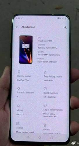 OnePlus 7 Pro fotoğraflarıyla birlikte ortaya çıktı
