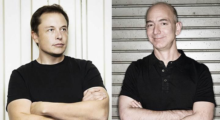 Elon Musk'tan, Jeff Bezos'a