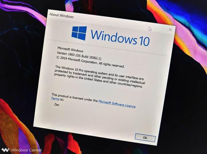 Windows 10 Mayıs 2019 Güncellemesi test kullanıcılarına sunuldu