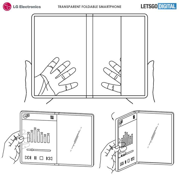 LG'nin şeffaf ekranlı katlanabilir telefon patenti ortaya çıktı