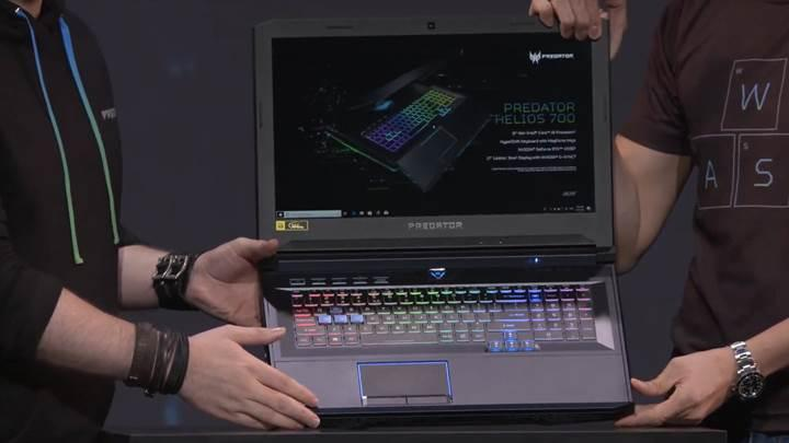 Kızaklı klavyeye sahip Acer Predator Helios 700 oyuncu dizüstü bilgisayarı duyuruldu