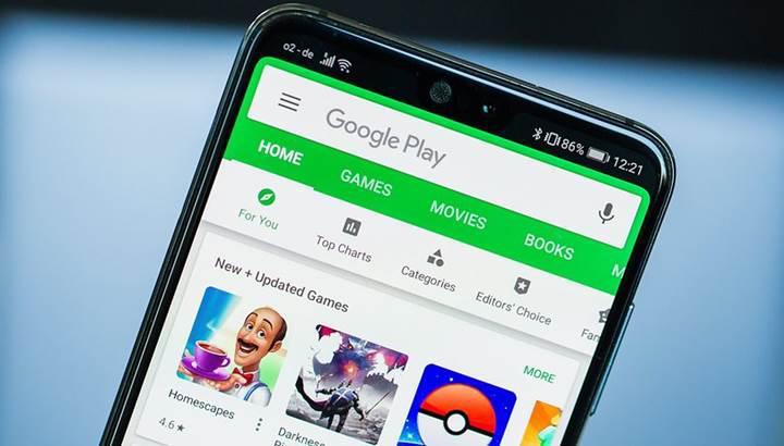 Android sistem güncellemeleri, Google Play Store üzerinden yapılabilir