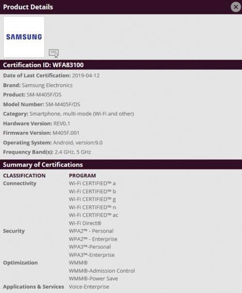 Samsung Galaxy M40, Wi-Fi sertifikasıyla görüldü