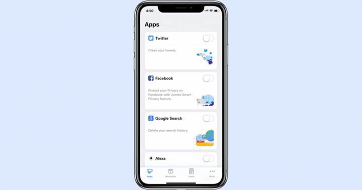 Jumbo: Facebook, Twitter ve Google geçmişinizi temizleyebilen uygulama