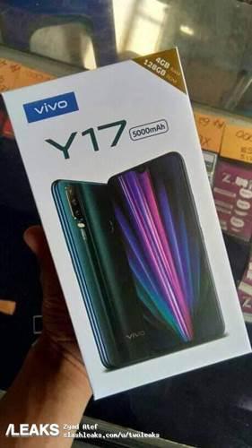 Üç arka kameralı Vivo Y17'nin kutu görseli ve özellikleri ortaya çıktı