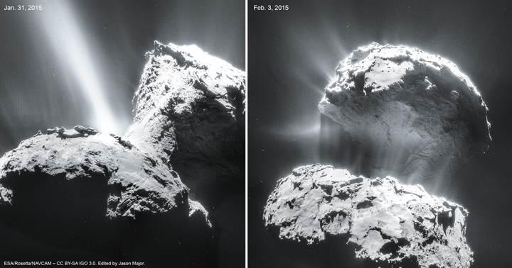 67P kuyruklu yıldızının tam 70 bin fotoğrafı yayınlandı