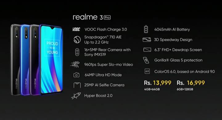 Realme 3 Pro tanıtıldı: İşte özellikleri ve fiyatı