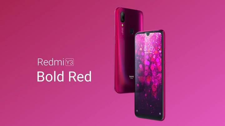 Redmi Y3 tanıtıldı: 32 MP ön kamera, uygun fiyat