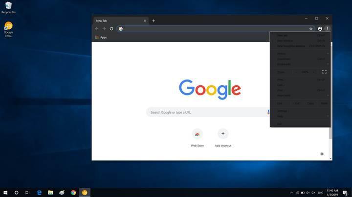 Windows 10'da Chrome karanlık modu nasıl aktive edilir?