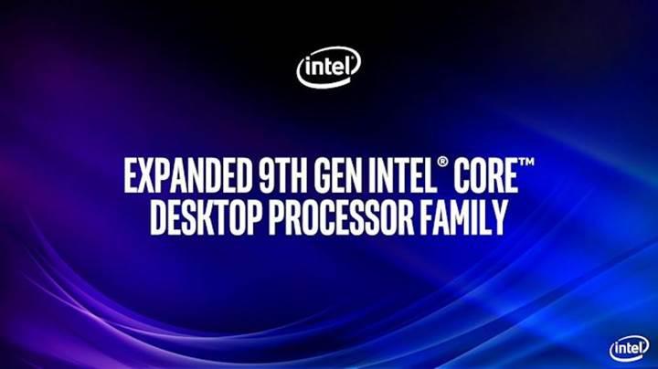 Dokuzuncu nesil Intel masaüstü işlemcileri duyuruldu