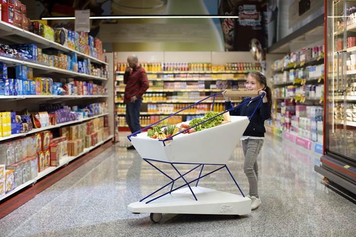 Ford'dan 1 Nisan şakası gibi proje: Otomatik fren yapan alışveriş arabası