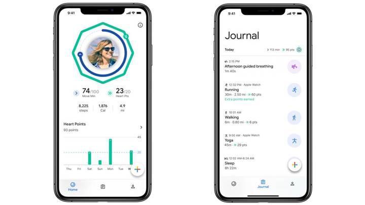 Google Fit uygulaması iOS için indirmeye sunuldu