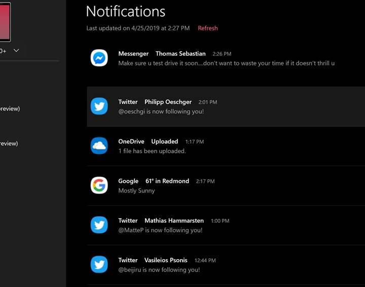 Windows 10 Insider sürümüne telefon bildirimlerini görme özelliği geldi