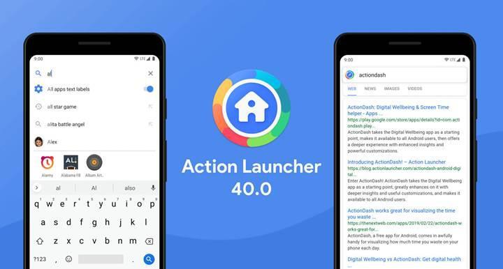 Action Launcher 40.0 güncellemesi ile arama ekranına reklamlar eklendi