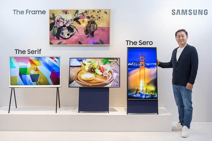 Samsung'dan dikey televizyon