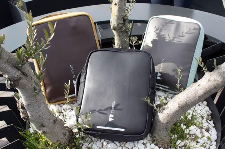Kablosuz şarj pediyle hayatı kolaylaştıran çanta Arıkovanı'nda