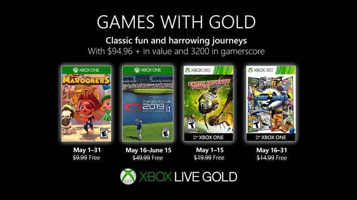 Xbox Live Gold Mayıs 2019 oyunları açıklandı