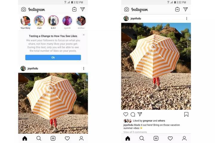 Instagram beğeni sayılarını gizlemeye başlıyor
