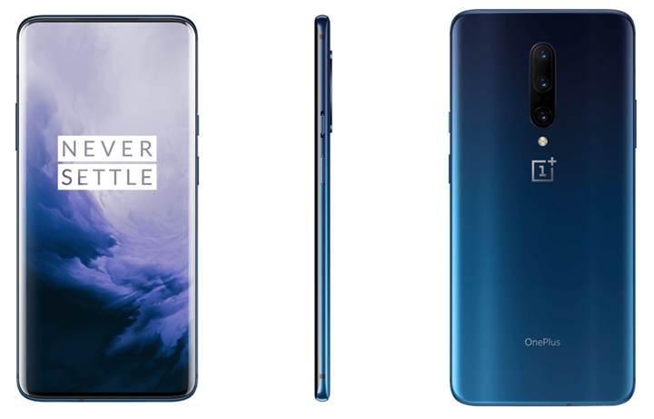 OnePlus 7 Pro'nun Nebula Mavi ve Ayna Gri renkleri karşınızda
