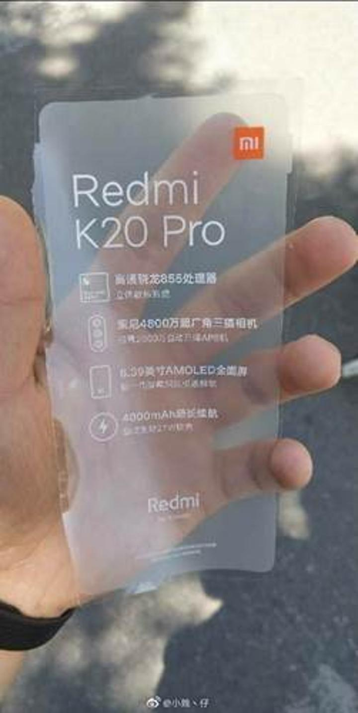Redmi'nin amiral gemi modeli Redmi K20 Pro şeklinde isimlendirilebilir