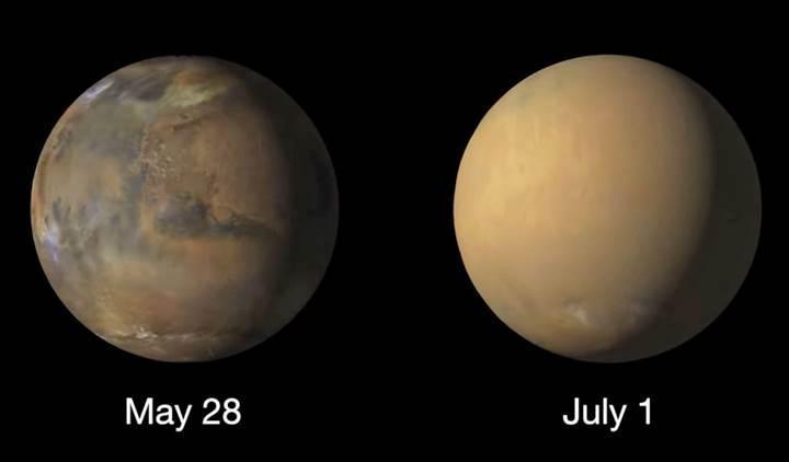 Mars'ın bütün suyunu kum fırtınaları çalmış olabilir