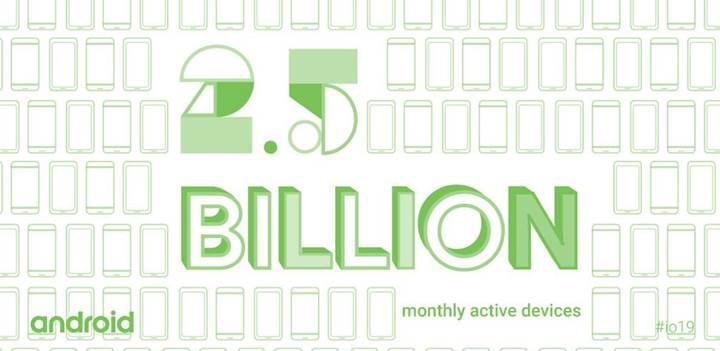 Google, dünya çapında 2.5 milyardan fazla aktif Android cihaz olduğunu açıkladı