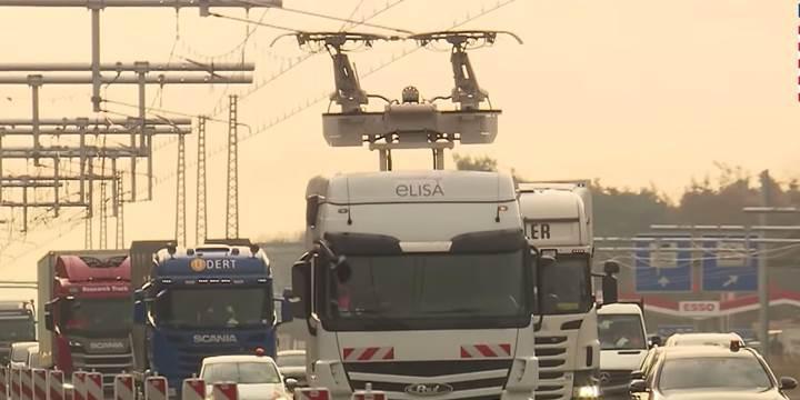 Almanya, ilk elektrikli otobanını Frankfurt'ta test ediyor