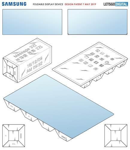 Samsung'dan dikdörtgen tüp şeklinde katlanabilir telefon patenti