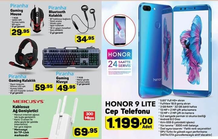 Haftaya A101 marketlerde uygun fiyata Honor 9 Lite var