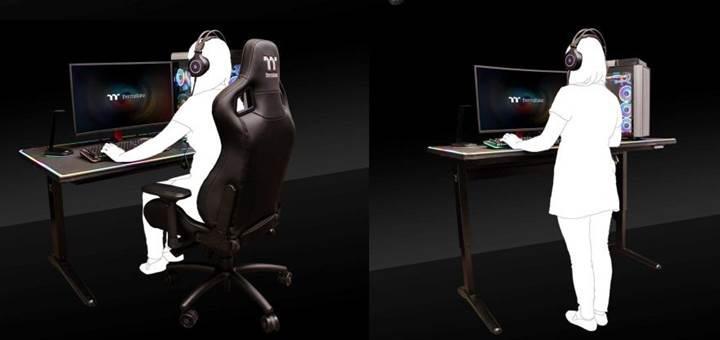 Oyun sisteminin kendisi kadar pahalı Thermaltake oyuncu masası duyuruldu