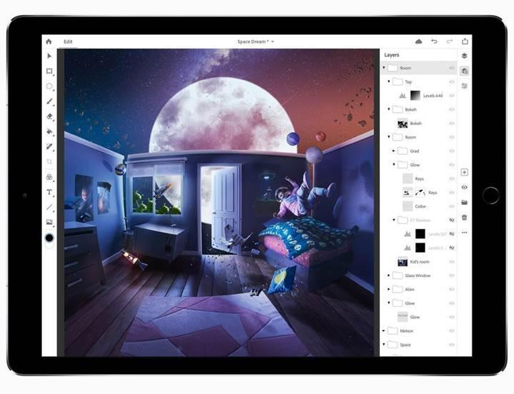 iPad için Adobe Photohop beta kayıtları başladı