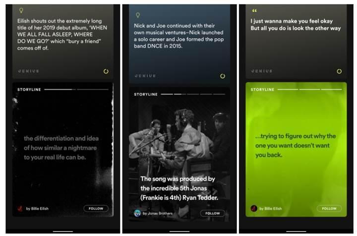 Spotify Hikayeler özelliği faaliyete geçiyor