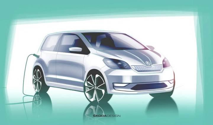 Skoda'nın elektrikli şehir otomobilinden ilk teaser geldi