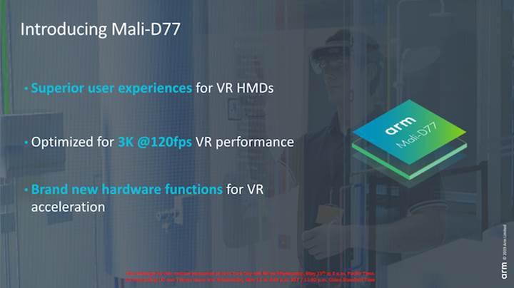 Sanal gerçeklik odaklı Mali D77 ekran sürücüsü duyuruldu