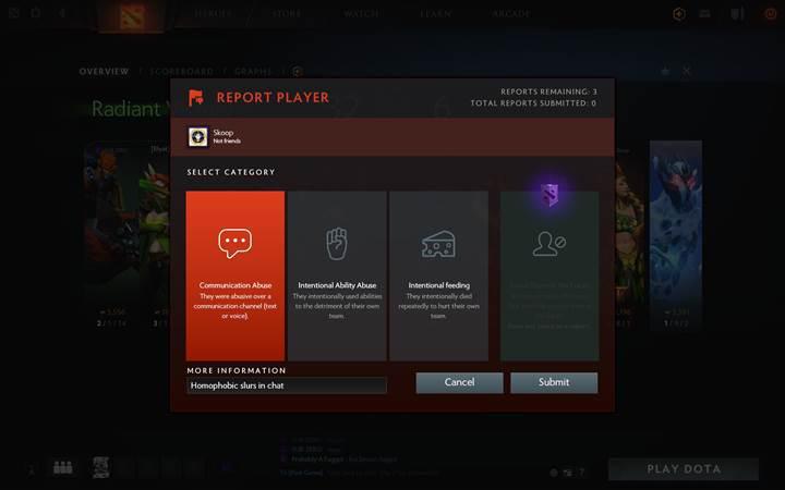 Dota 2'de toksik oyunculardan korunmak için abonelik dönemi başlıyor
