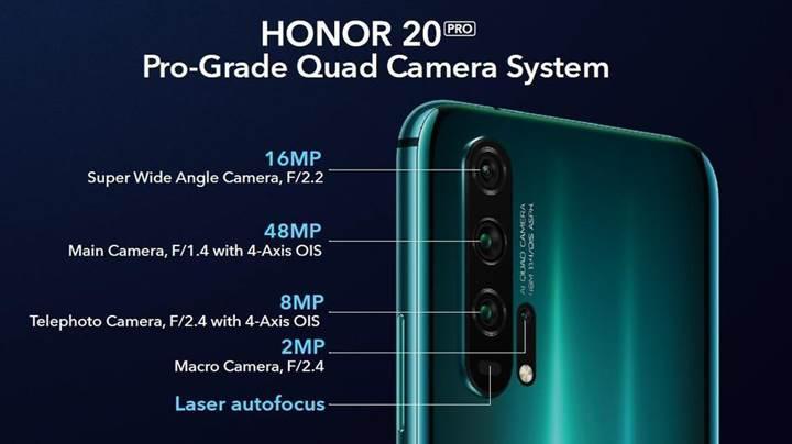 Honor 20 Pro tanıtıldı, standartlar yeniden belirlendi