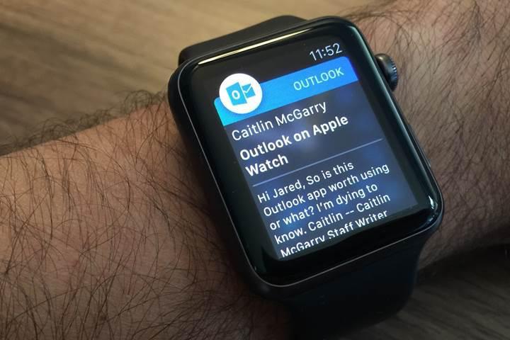 Microsoft, Apple Watch için Outlook bildirimlerini yeniden tasarladı