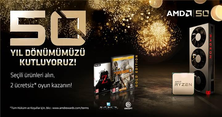 AMD 50. Yıldönümü hediye oyun kampanyası bitmek üzere