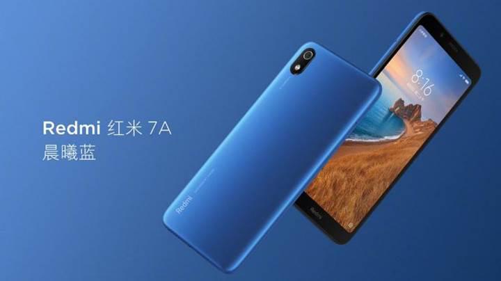 Redmi 7A tanıtıldı: Snapdragon 439 ve 4000mAh pil