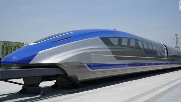 Çin'de 600km/sa hız yapan prototip maglev treni tanıtıldı
