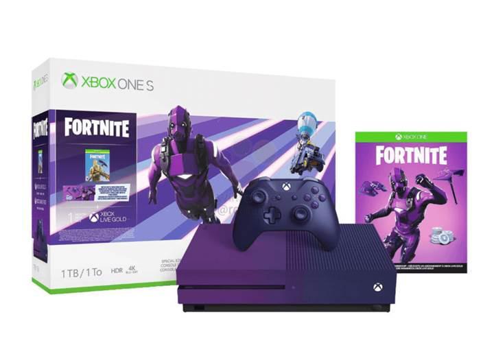 Sızıntılar Microsoft'un mor renkli Xbox One S Fortnite versiyonunu ortaya çıkardı