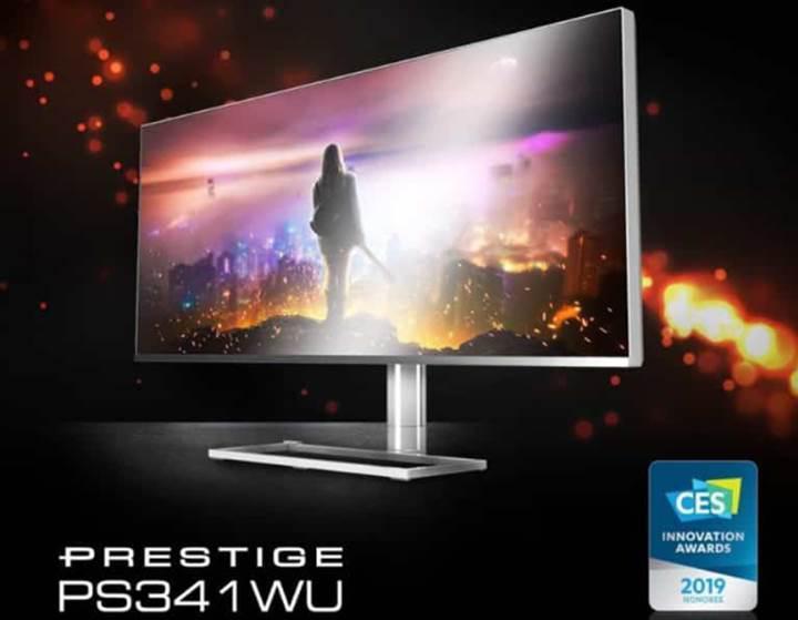 MSI'dan içerik üretici odaklı 5K monitör, Prestige PS341WU