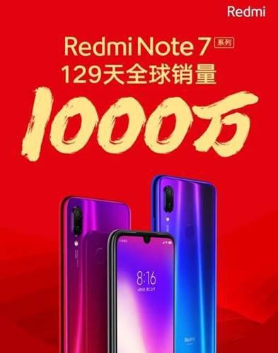 Redmi Note 7 serisi dört ayda 10 milyondan fazla sattı