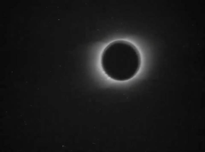 119 yıllık Güneş tutulması görüntüleri yayınlandı