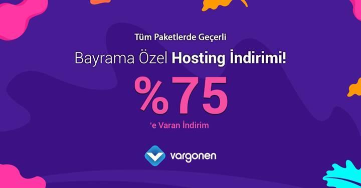 Bayrama Özel %75 Hosting İndirim Kampanyası