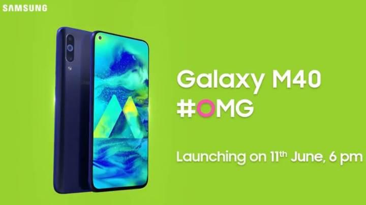 Üç arka kameralı Samsung Galaxy M40'ın basın görseli yayınlandı