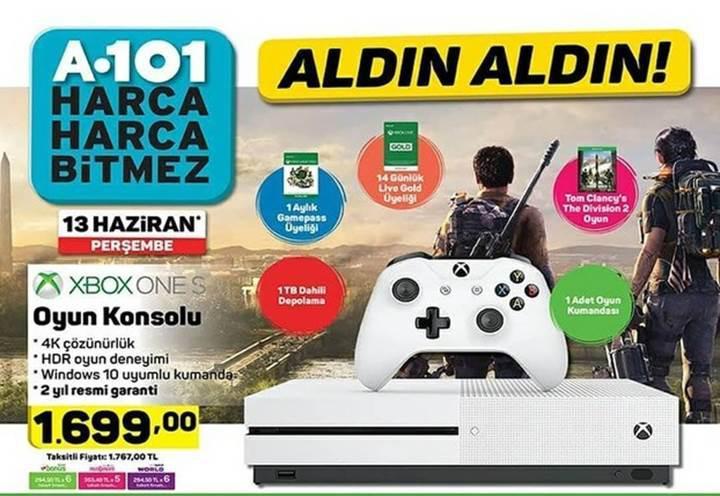 Haftaya A101 marketlerde Xbox One S konsolu var