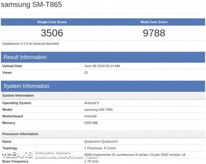 Amiral gemisi Samsung tablet GeekBench'te göründü